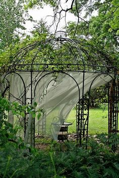 gazebo grape arbor?  I don't see alot of grapes but this might be cool with the grape at the lower road