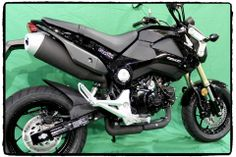 2014 Honda Grom with TechSpec Tank Grip Pad Accessories in High Fusion #gripstertankgrips www.techspec-usa.com