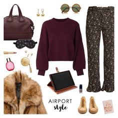"""""""Wanderlust Wonderful: Airport Style"""" by sproetje ❤ liked on Polyvore featuring Rebecca Taylor, Common Projects, The Macbeth Collection, Givenchy, Étoile Isabel Marant, Dolce&Gabbana, Mark & Graham, Clarins, The Row and Clé de Peau Beauté"""