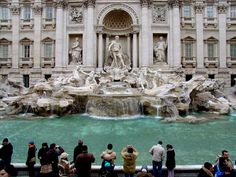 Trevi Fountain in Rome...been there and tossed the coin over my shoulders so I expect to go back again one day!