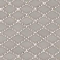 Dove Gray Diamond MIS stone - for inset into backsplash behind cooktop Painted Brick Backsplash, Backsplash Tile, Kitchen Color Trends, Grey Wall Tiles, Dove Grey, Gray, Ceramic Mosaic Tile, Brick And Stone, The Ranch