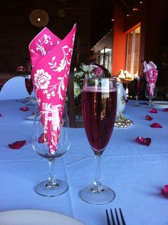 Sweet 16 High Tea Party welcome drink