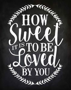 How Sweet It Is To Be Loved By You Sign, INSTANT DOWNLOAD, 11 x 14, Printable, DIY, Sign, Chalkboard   ••••••LISTING DETAILS•••••• This listing is Chalkboard Print, Chalkboard Signs, Chalk It Up, Chalk Board, Kid Bedrooms, Girl Rooms, Child Room, Room Kids, Musica