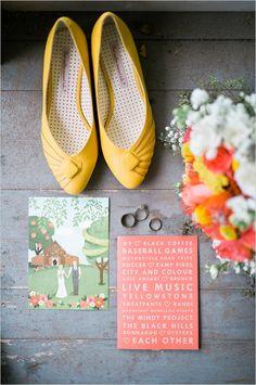 Handmade orange and yellow wedding. Captured By: Josh McCullock Photography #weddingchicks http://www.weddingchicks.com/2014/09/19/handmade-orange-and-yellow-wedding/