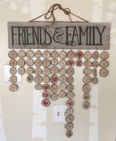 Anniversaires famille rustique Plaque par EaselyInspired sur Etsy