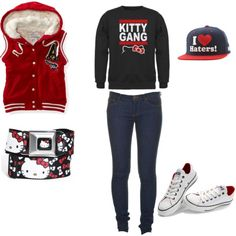 My Hello Kitty Gang!!!!!!!!!, created by misscandylove19 on Polyvore