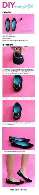DIY re-vamp your flats via Blowfish Shoes