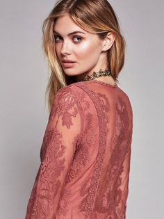 Megan Williams || FP Collection Reign Over Me Lace Dress (Pink Nectar)