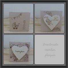 handmade shabby wooden plaques