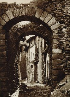 Narrow street in the town of Castellb, Spain, 1925 by Kurt Hielscher