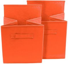 Sorbus Foldable Storage Cube Basket Bin - Set of 6 - Orange