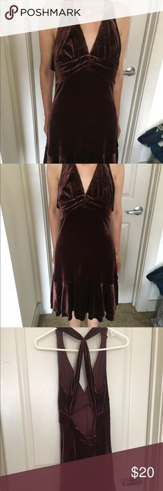 Beautiful burgundy matt dress ! Wore twiceee ! New ! Cute for party and going out Dresses High Low