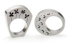 Box rings | Cindy Ashbridge more on   www.modernjewelry.net