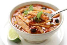 Tomaten-tortilla soep