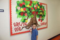Outside bulletin board; just the tree and change the leaves with the seasons.