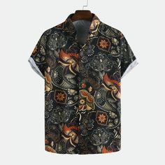 Mens Ethnic Style Flower Printed Casual Breathable Short Sleeve Shirts is designer and cheap on Newchic Mobile. Ethnic Fashion, Retro Fashion, Mens Fashion, Latest Fashion, Fashion Outfits, Fashion Trends, Flower Shirt, Herren Outfit, Themed Outfits