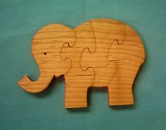 This Little Elephant Wooden Puzzle is made of Furniture Grade Alder Wood Hand cut with a scroll saw Well Sanded and finished with a Non-toxic Oil which is allowed to Wooden Elephant, Little Elephant, Wooden Puzzles, Scroll Saw, Toys, Gifts, Handmade, Baby, Image