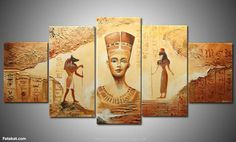 Oil Painting On Canvas Abstract Ancient Egyptian civilization Hand-painted Home Decor Wall Art Linen Canvas Painting Egyptian Furniture, Egyptian Home Decor, Egyptian Art, Egyptian Beauty, Oil Painting Abstract, Abstract Canvas, Canvas Wall Art, Oil Paintings, Painting Art