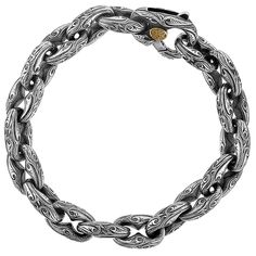 Amazon.com: The Anchor Link Sparta Medium Engraved Bracelet By Scott Kay Mens Sterling Silver: Jewelry