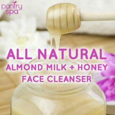 Sweet Almond Milk Honey Face Cleanser Natural Remedy - Pantry Spa
