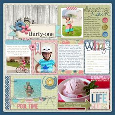 Project Life Scrapbook Page from KimR at DesignerDigitals.com