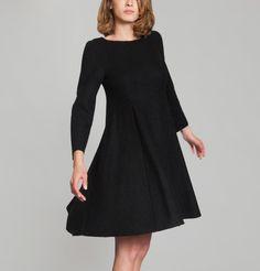 Robe Jersey Bouilli Bleu Marine Cacharel en vente chez L'Exception Bleu Marine, Cold Shoulder Dress, Black, Dresses, Fashion, Little Black Dresses, Dress Ideas, Fashion Ideas, Woman