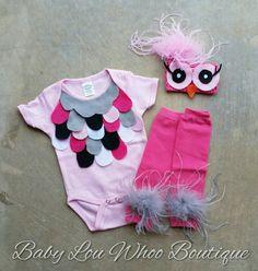 Baby girl owl costume .. handmade owl costume by BabyLouWhoo
