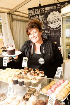 Scrumptious cupcakes being served at the Ergon Energy Flower Food and Wine Festival 2015