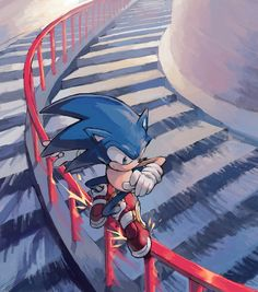 The awesome Sonic the Hedgehog!!! Being awesome!