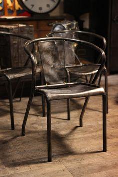 chaise industrielle ancienne TOLIX deco loft