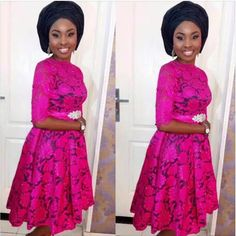Black and Pink Lace short Gown Combinations.Black and Pink Lace short Gown Combinations African Lace Styles, African Lace Dresses, Latest African Fashion Dresses, African Print Fashion, Ankara Styles, Nigerian Fashion, African Outfits, Ankara Fashion, African Prints