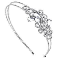 Lux Accessories Bridal Bride Wedding Bridesmaid Tear Drop Stretch Headband Head Band -- You can get more details by clicking on the image.