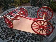 8 leaf springs to make and the shaft for the horses. I can then start work on the coach body. In Progress! Lamborghini Aventador, Maquette Architecture, Toy Wagon, Horse Drawn Wagon, Catholic Kids, Covered Wagon, Oregon Trail, Leaf Spring, Cannon