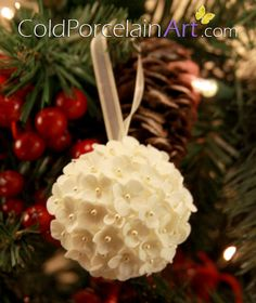 Set of 6 Christmas Ornaments by ColdPorcelainArt. www.coldporcelainart.com