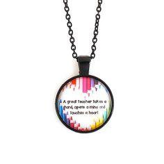 A Great Teacher Necklace - Sedalia Designs