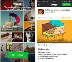 Llega la aplicación para iOS de Fiverr