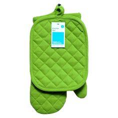 Room Essentials� Green Pothold Mitt 3Pk Accessory  - Oven mit