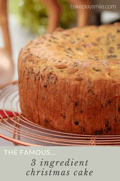 Introducing the award winning FAMOUS 3 INGREDIENT CHRISTMAS CAKE (fruit cake) made from mixed fruit, iced coffee and self-raising flour!    #christmas #cake #3ingredients #cwa #recipe #easy #best #famous