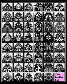 Mandala Art Lesson, Mandala Artwork, Mandala Painting, Mandala Drawing, Doodle Art Designs, Doodle Patterns, Zentangle Patterns, Zentangles, Mandala Pattern