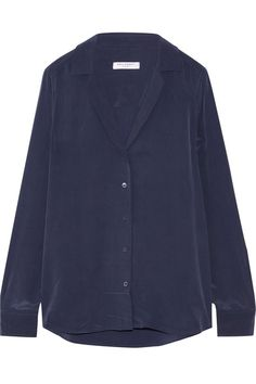 EQUIPMENT Adalyn Washed-Silk Shirt. #equipment #cloth #tops