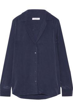 EQUIPMENT Adalyn Washed-Silk Shirt. #equipment #cloth #tops