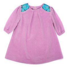 Velvet dress  Платье выполнено из мягкого приятного бархата красивого сиреневого оттенка. Вышитые розы на плечах делают это платье поистине прекрасным нарядом для выхода в «свет». #yumekidswear #yume #yumemoda #fashion #kids #дизайн #мода #дети #одежда #style #russia #fasionkids