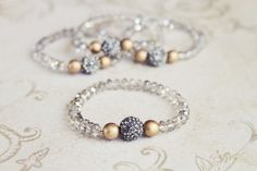 Frost stretchy bracelet with chinese crystal and by girlsdayout, $18.00