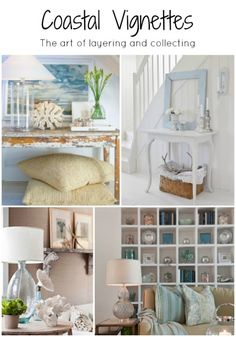 Stunning coastal vignette favorites from my coastal and beachy living Pinterest board on H2OBungalow.