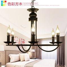 235.00$  Buy now - http://alirw1.worldwells.pw/go.php?t=32610770183 - 2G23D 6HEAD European Iron Chandelier garden bedroom ceiling chandelier bar restaurant lighting retro American art lamps 235.00$