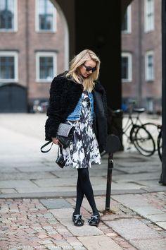 nyfw street style black white
