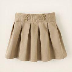 uniform pleated skort