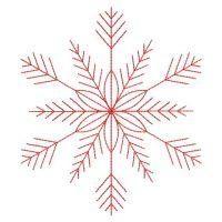 OregonPatchWorks.com - Sets - Redwork Snowflakes 2