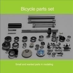 Parts for modeling  set-1 3D Model-   When you have a lot of work in process, you not have a heaps of time for modeling a small parts.I hope, this set can help you in the creation of vehicle models, interiors, robots and other projects. This set contains a lot of small, but indispensable parts nuts, bolts, axles, bearings, washers etc. See a free preview file for detailed review. All parts are well-and accurately modeled. Shaders saved in matlib.rar-This set contains ztl max obj fbx lwo 3ds…