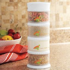 Packin' SMART Stack-N-Seal Baby Snack Containers This was a great space saver in my diaper bag and kept snacks fresh! Toddler Meals, Kids Meals, Toddler Food, New Baby Boys, Baby Kids, Baby Lane, Snack Containers, Baby Snacks, Baby Design